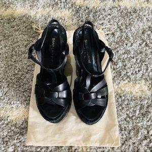 ✨ Saint Laurent YSL tribute wedge sandals